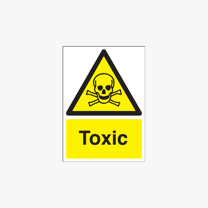 350x250mm Toxic Plastic Signs
