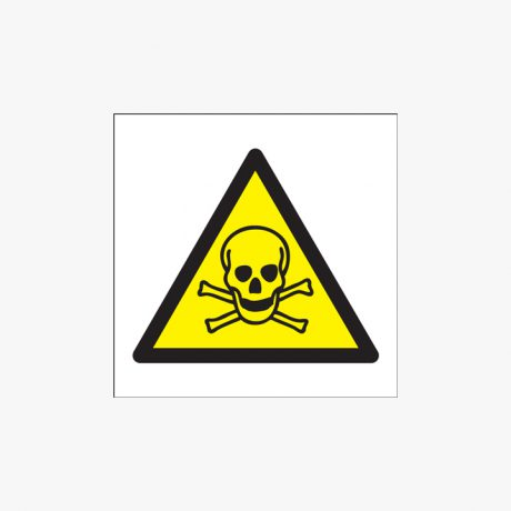 150x150mm Toxic Hazard (Symbols) Plastic Signs
