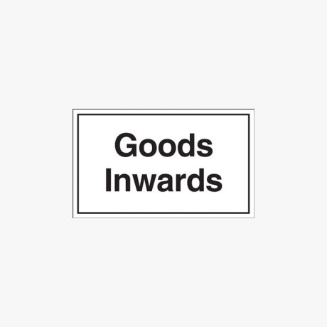 300x500mm Goods Inwards Self Adhesive Plastic Signs