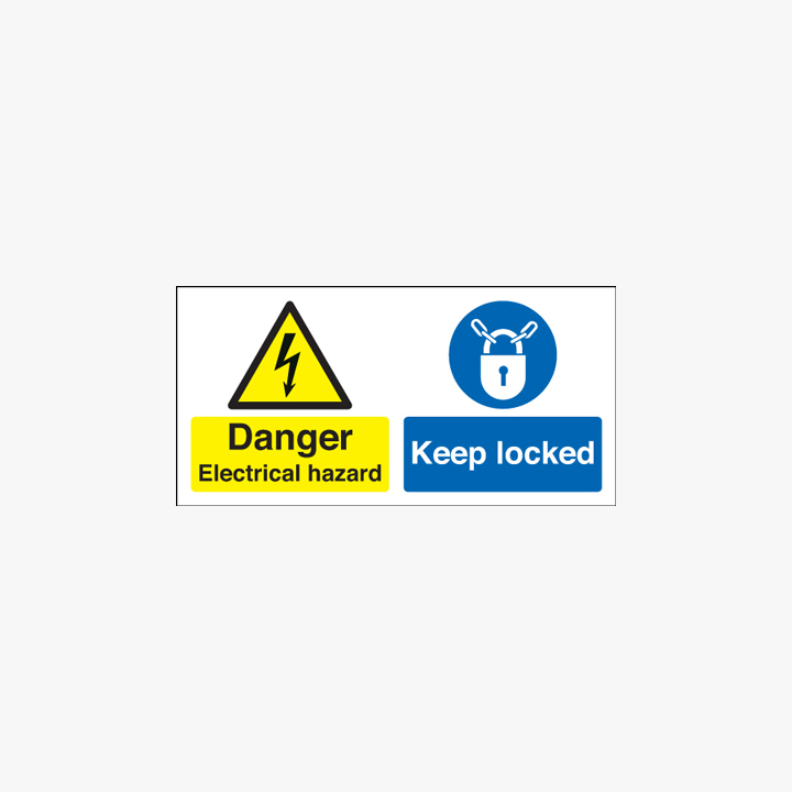 150x300mm Danger Electrical Hazard Keep Plastic Signs