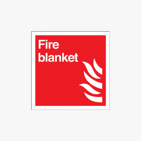 Fire Blanket Self Adhesive Plastic Signs 200 mm x 200 mm