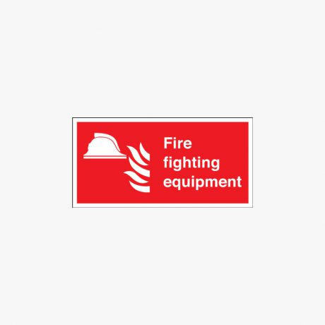 200x400mm Fire Fighting Equipment Self Adhesive Plastic Signs