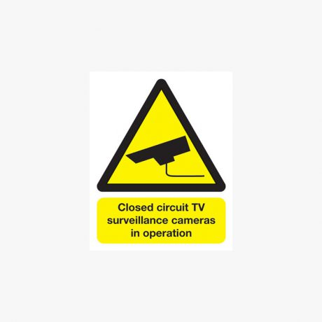 250x200mm Closed Circuit Tv Surveillance Plastic Signs