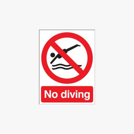 400x300mm No Diving Plastic Signs
