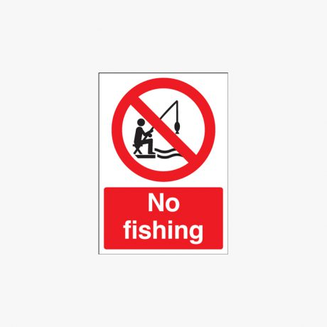 400x300mm No Fishing Plastic Signs
