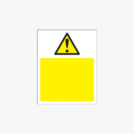 250x200mm Triangle Exclamation Mark Plastic Signs