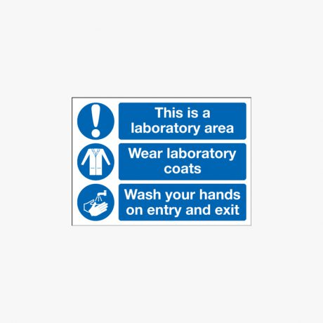 250x350mm This Is A Laboratory Area Wear Plastic Signs