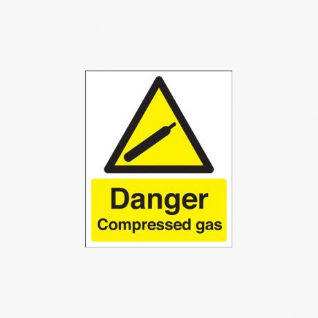 400x300mm Danger Compressed Gas Plastic Signs