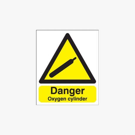 400x300mm Danger Oxygen Cylinder Plastic Signs