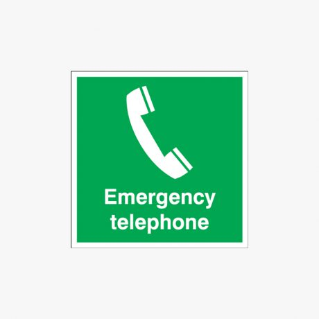 300x300mm Emergency Telephone Self Adhesive Plastic Signs