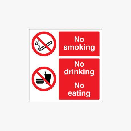 450x450mm No Smoking No Drinking Plastic Signs