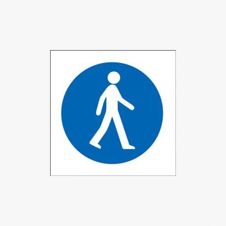 300x300mm Pedestrians (Symbols) Plastic Signs