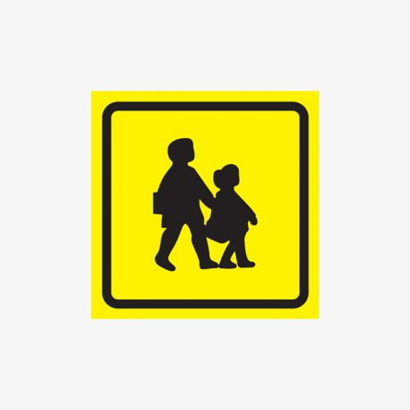 450x450mm School Bus Symbol Self Adhesive Plastic Signs
