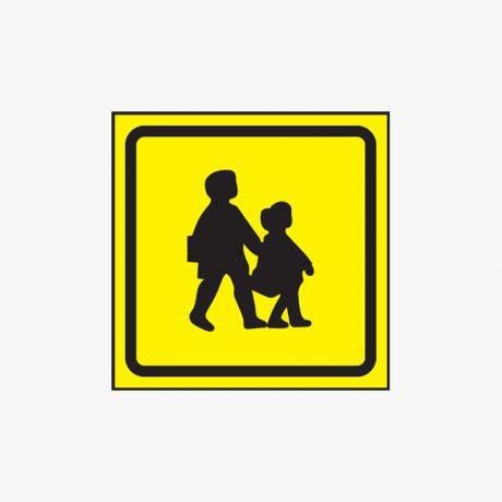 450x450mm School Bus Symbol Plastic Signs