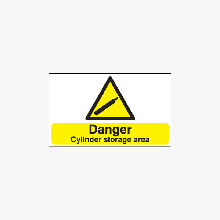 300x500mm Danger Cylinder Storage Area Plastic Signs