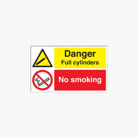 300x500mm Danger Full Cylinders No Smoking Plastic Signs