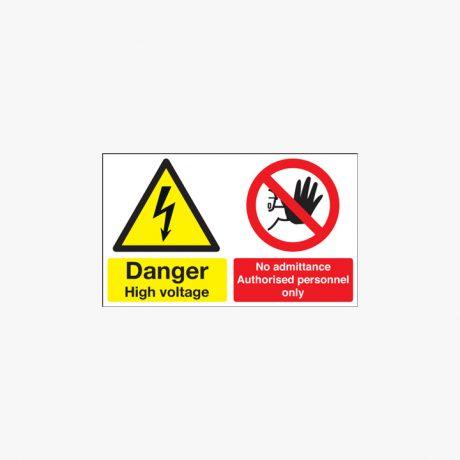 300x500mm Danger High Voltage No Plastic Signs