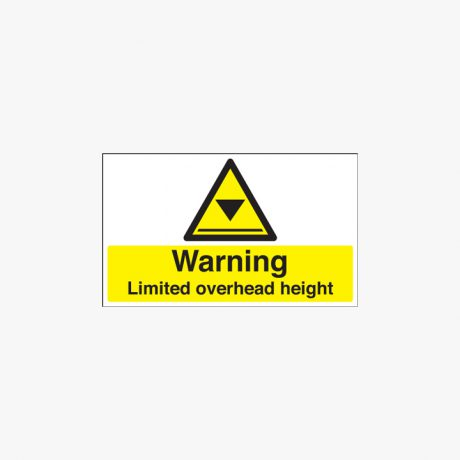 300x500mm Warning Limited Overhead Height Plastic Signs