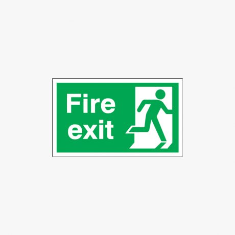 300x600mm Fire Exit Running Man Right Signs