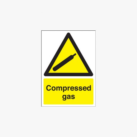 350x250mm Compressed Gas Plastic Signs