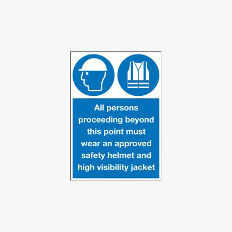 800x600mm All Persons Proceeding Beyond Self Adhesive Plastic Signs