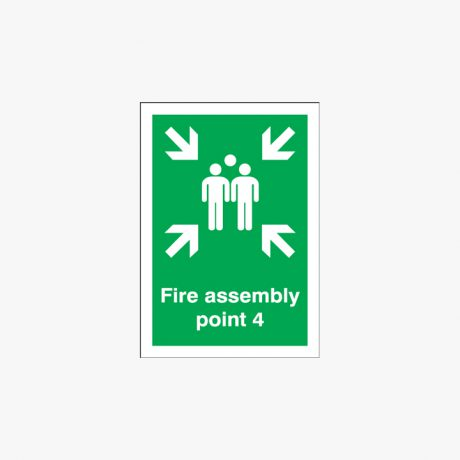 A1 Fire Assembly Point 4 Self Adhesive Plastic Signs