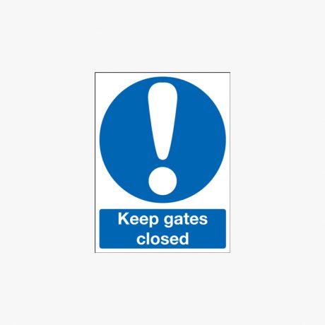600x450mm Keep Gates Closed Plastic Signs