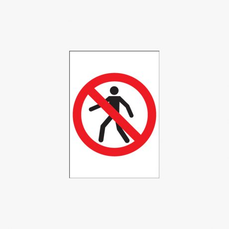 A1 No Entry Self Adhesive Plastic Signs