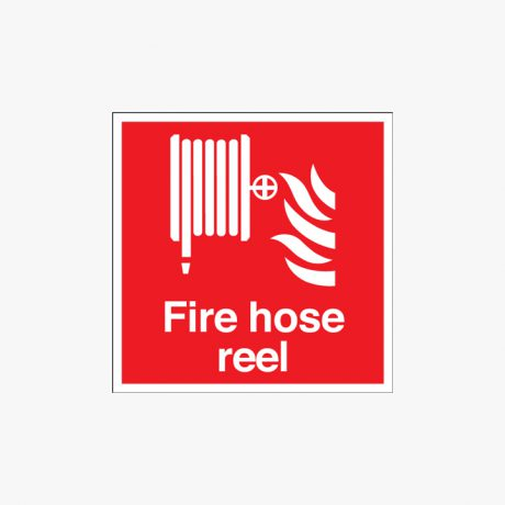 200x200mm Night Glow Luminescent Fire Hose Reel Plastic Signs