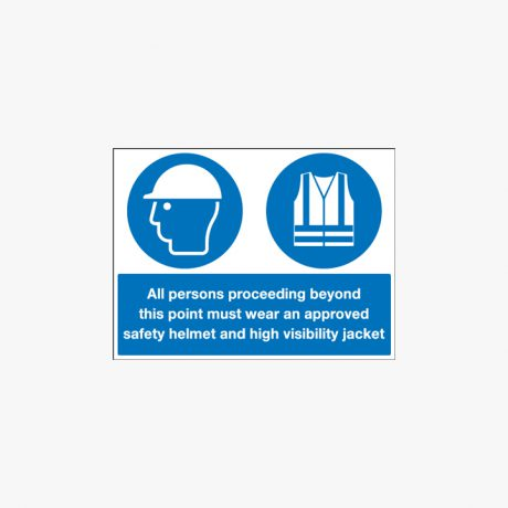 450x600mm All Persons Proceeding Beyond Self Adhesive Plastic Signs