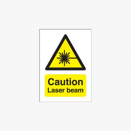 175x125mm Caution Laser Beam Self Adhesive Plastic Signs