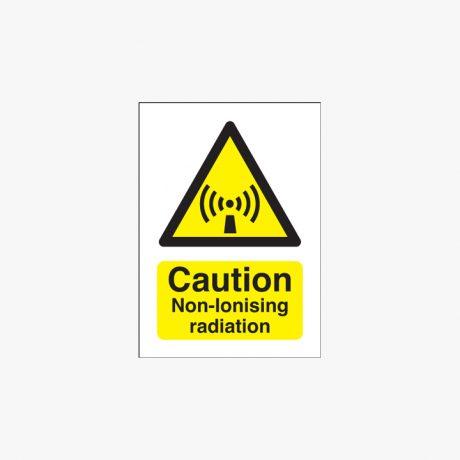 175x125mm Caution Non-Ionising Radiation Self Adhesive Plastic Signs