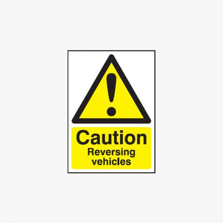 A1 Caution Reversing Vehicles Self Adhesive Plastic Signs