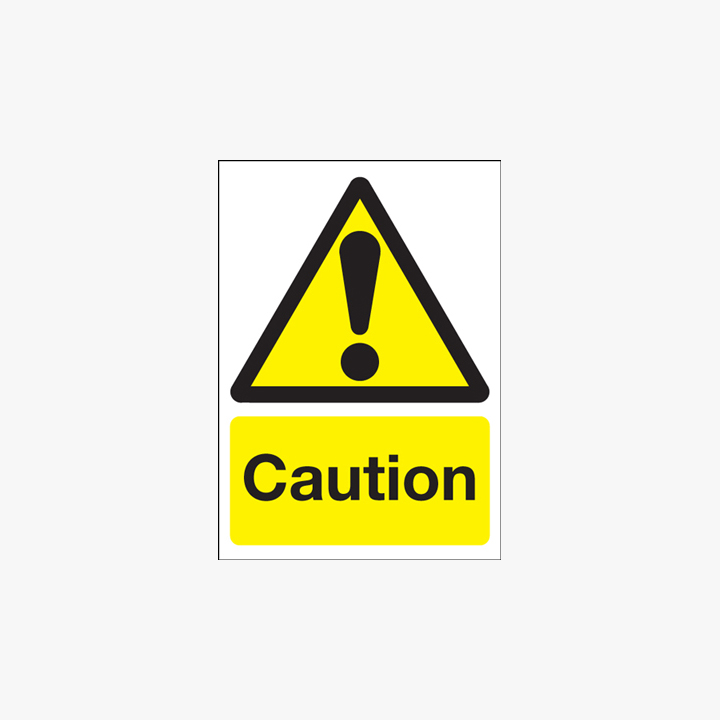 400x300mm Caution Plastic Signs
