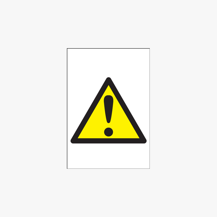 A1 Caution (Symbols) Self Adhesive Plastic Signs