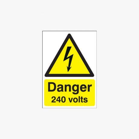 70x50mm Danger 240 Volts Plastic Signs