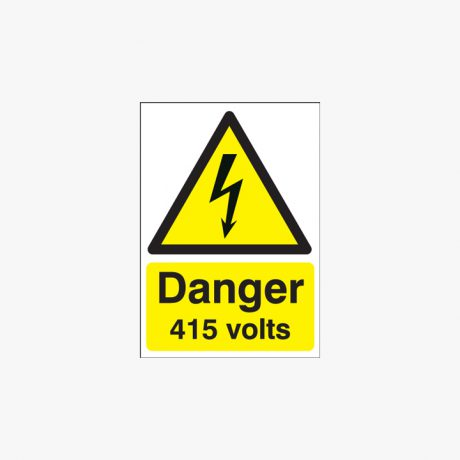 A1 Danger 415 Volts Self Adhesive Plastic Signs