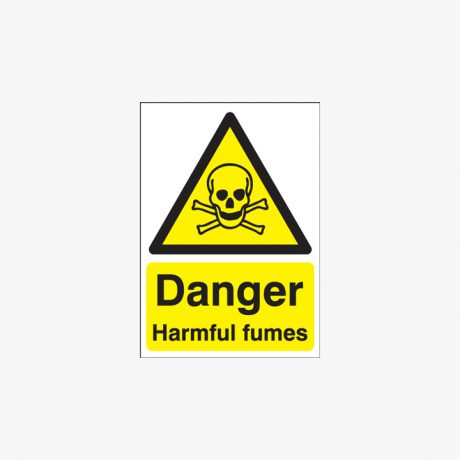 A1 Danger Harmful Fumes Self Adhesive Plastic Signs