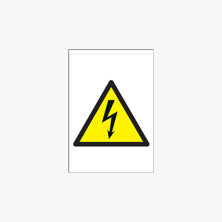 A1 Danger High Voltage Self Adhesive Plastic Signs