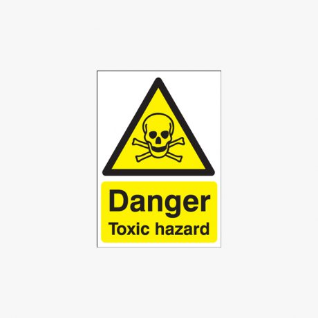 A1 Danger Toxic Hazard Self Adhesive Plastic Signs