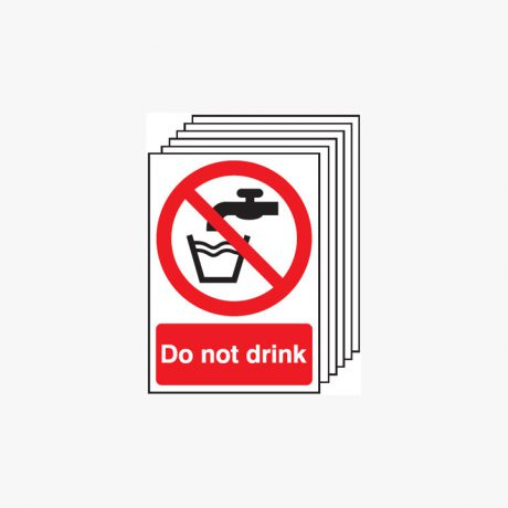 A3 Do Not Drink Multipack 6 Plastic Signs