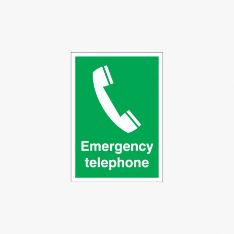 Emergency Telephone Plastic Signs 125 mm x 150 mm