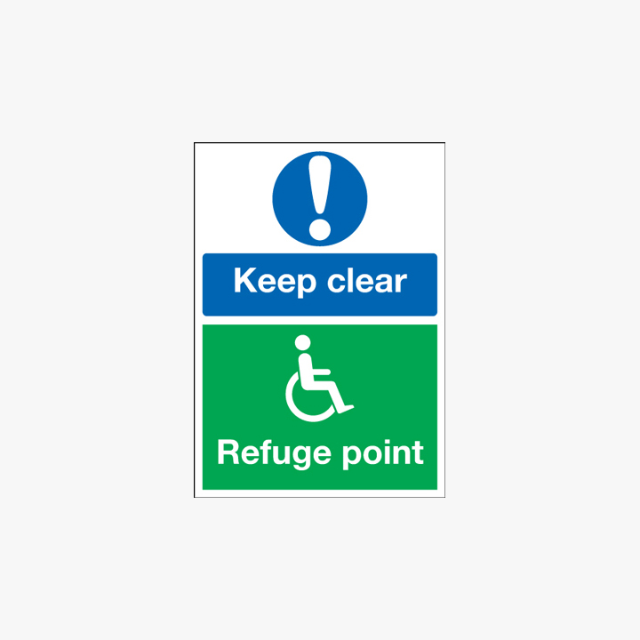 A3 Keep Clear Refuge Point Plastic Signs