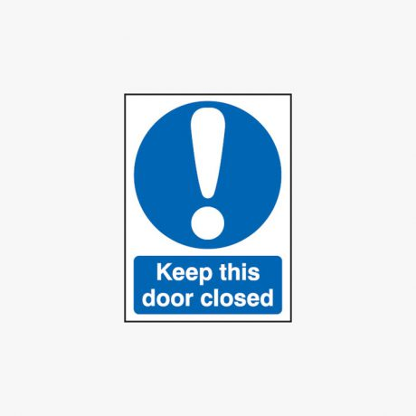 A1 Keep This Door Closed Self Adhesive Plastic Signs