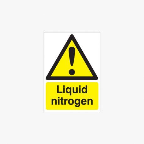 A1 Liquid Nitrogen Self Adhesive Plastic Signs