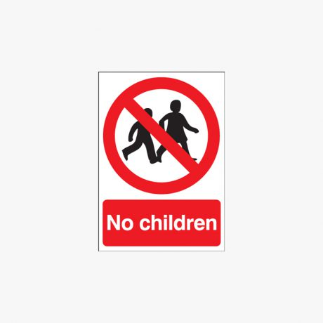 800x600mm No Children Self Adhesive Plastic Signs