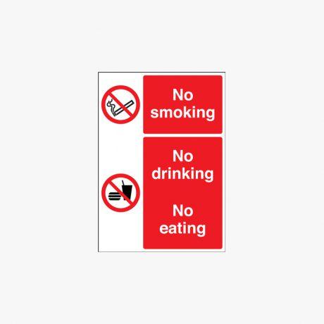 400x300mm No Smoking No Drinking Plastic Signs