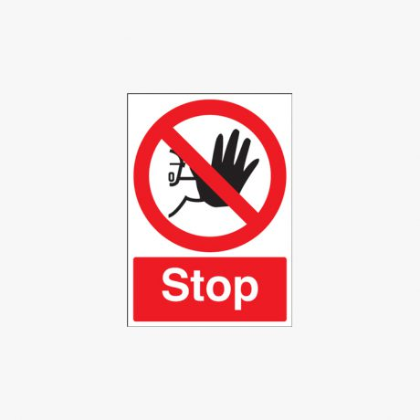 A1 Stop Self Adhesive Plastic Signs