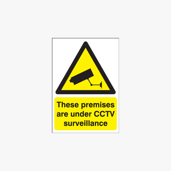 A1 These Premises Are Under Cctv Self Adhesive Plastic Signs
