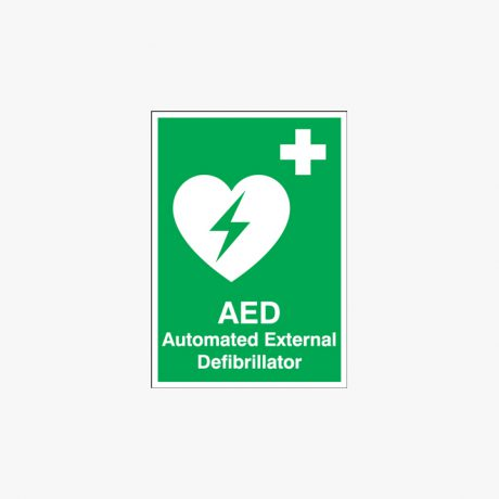 Aed Automated External Defibrillator Signs Self Adhesive Plastic A1
